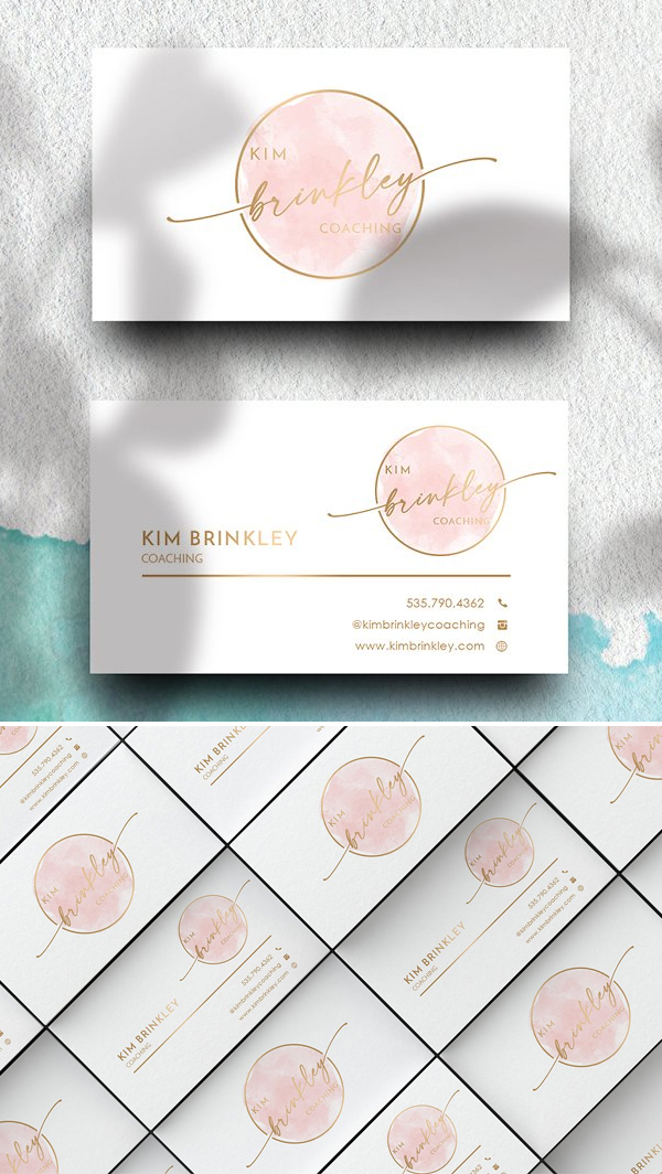 Coach Business Card Design