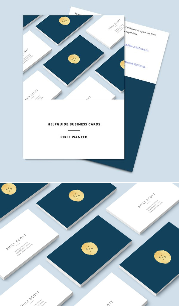 Blue Gold Business Card