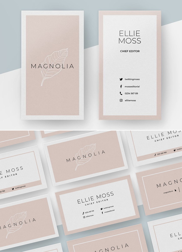 Magnolia Business Card Templates