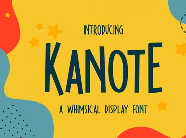 Kanote - Whimsical Display Free Font