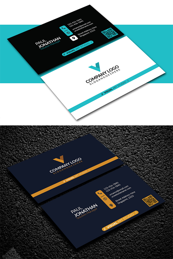 Free Attractive Business Card
