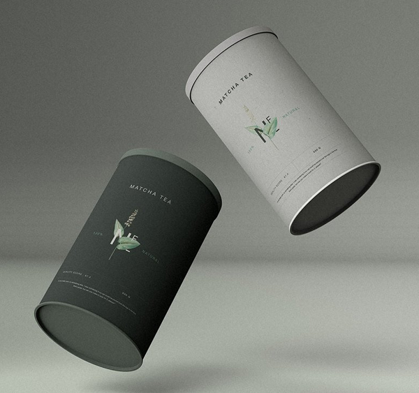 Cylinder Food Container Mockup