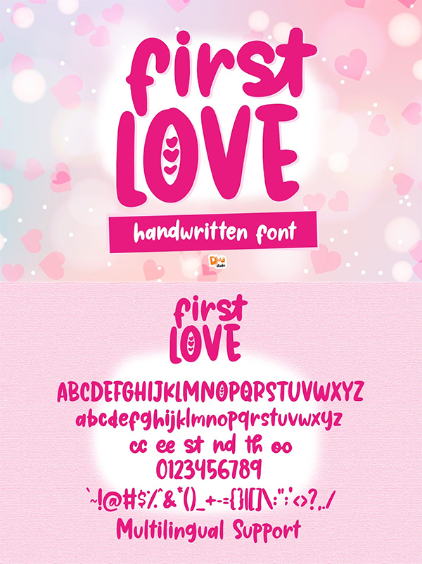 First Love - Cute Handwritten Font