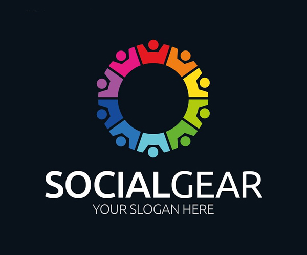 Social Gear Logo Design