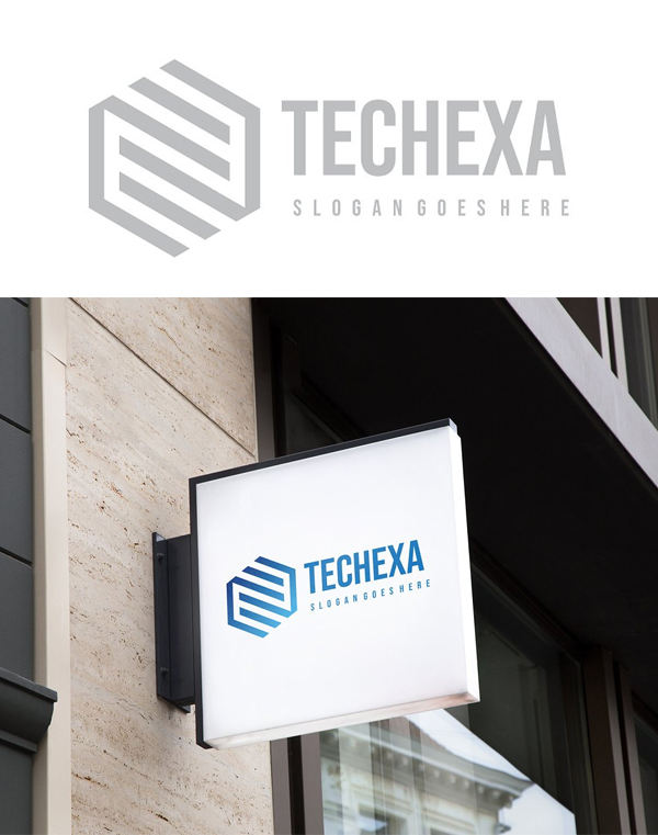 Technology Hexagon Logo Design