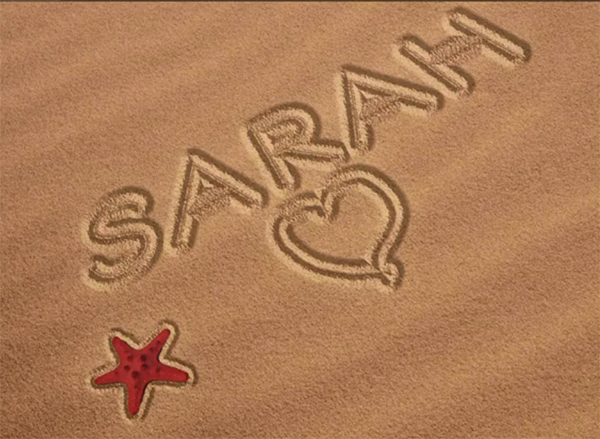 How to Write a Name in Sand Using Photoshop