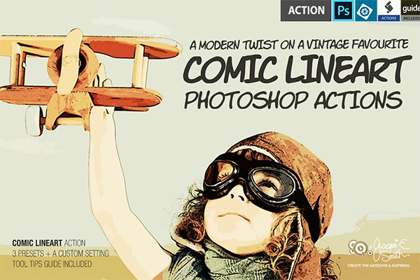 Comic LineArt Actions