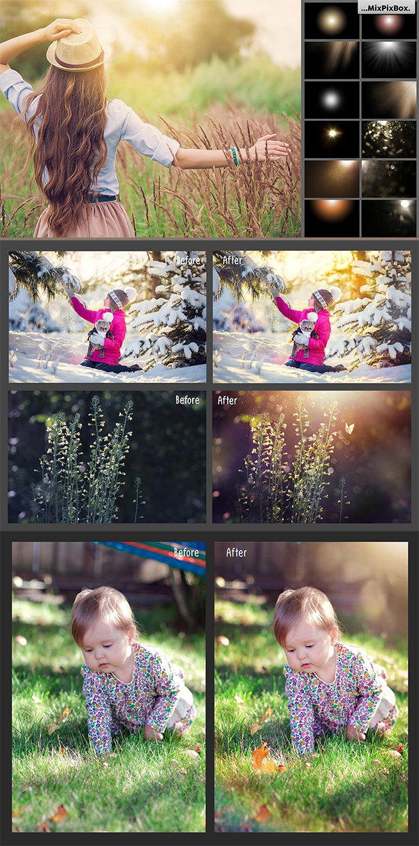 Natural Sunlight photo Overlays