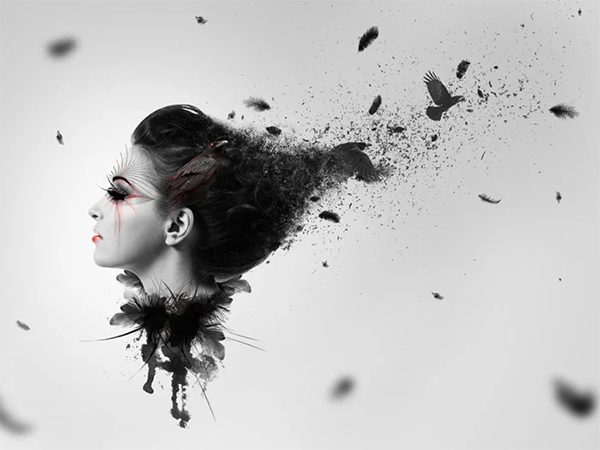 Create A Dark Abstract Crow Photo Manipulation