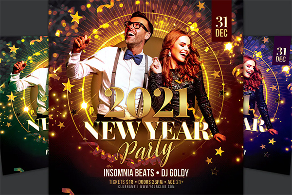 Attractive New Year Flyer Template