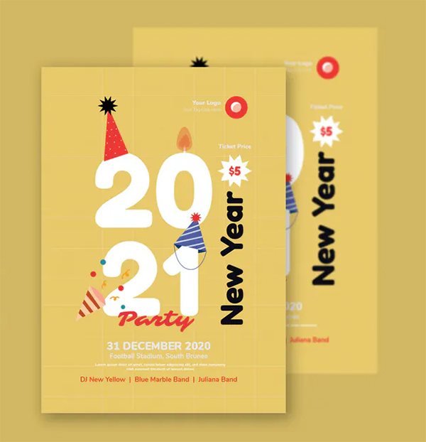 Yellow New Year - Flyer