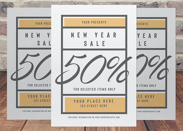 New Year Sale Flyer Template