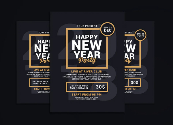 Perfect Creative New Year Party Flyer Template