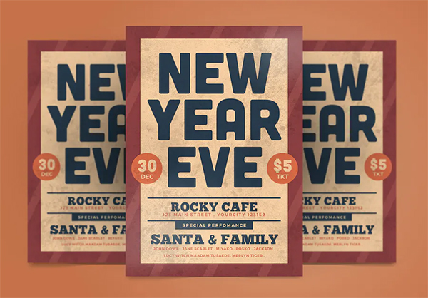 Creative New Year Flyer Template