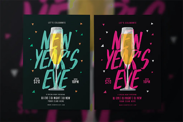 Stylish New Year Flyer Template