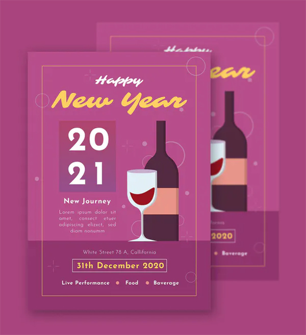Perfect New Year - Flyer Template
