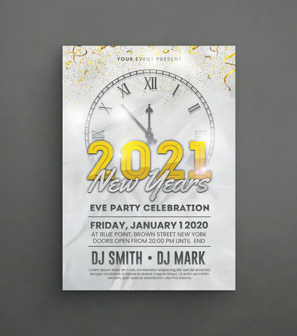 Simple New Year Flyer Template