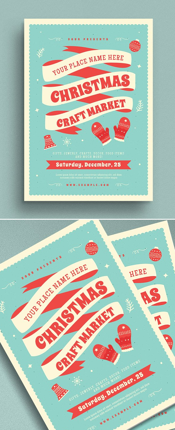 Christmas Craft Market Flyer