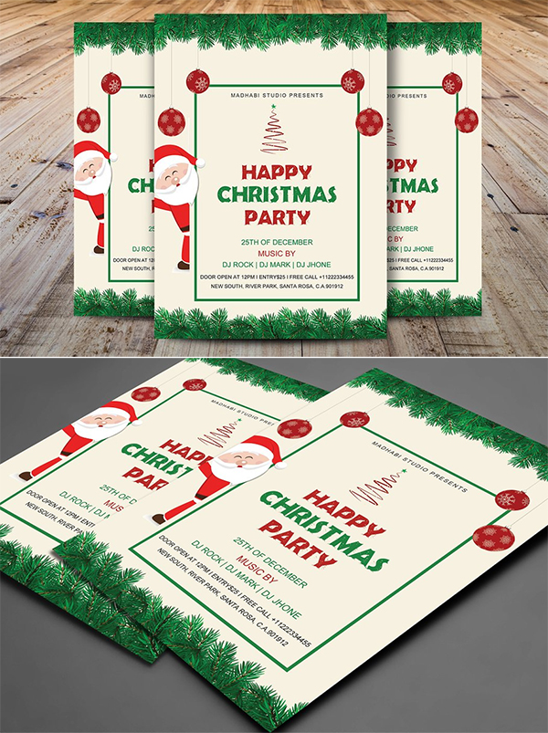 Happy Christmas Party Flyer Template