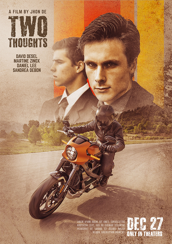 How to Combine Photo and Texture Effects to Create a Movie Poster Art Design