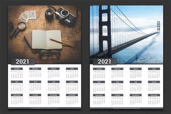 Attractive Stylish New Year Calender
