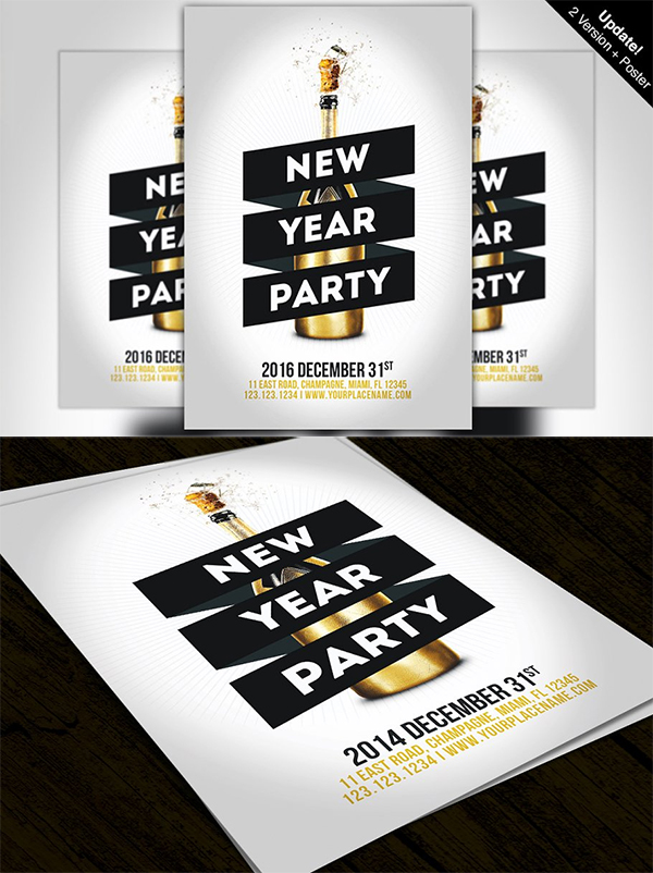 Minimal New Year Party Flyer