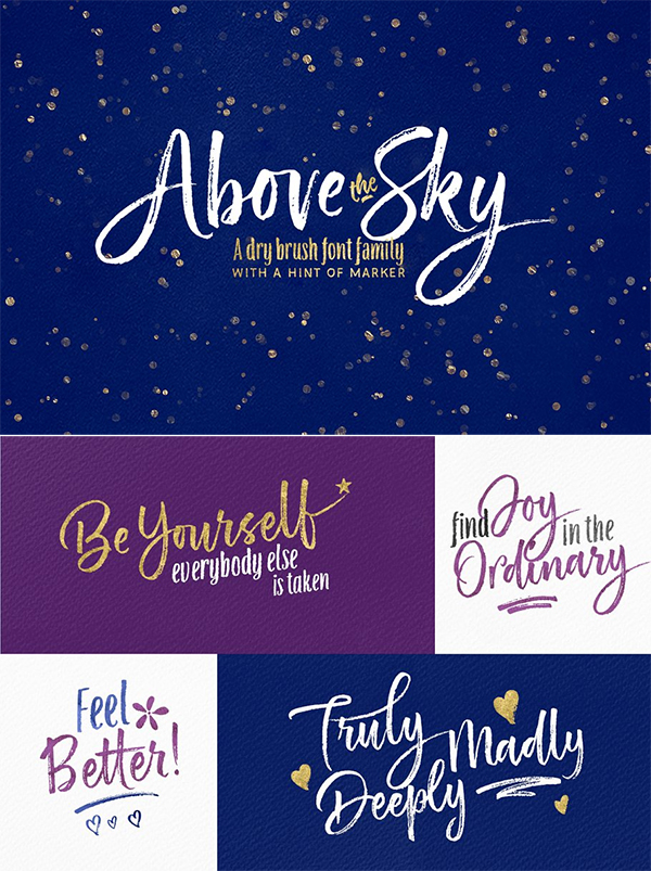 Above the Sky Font