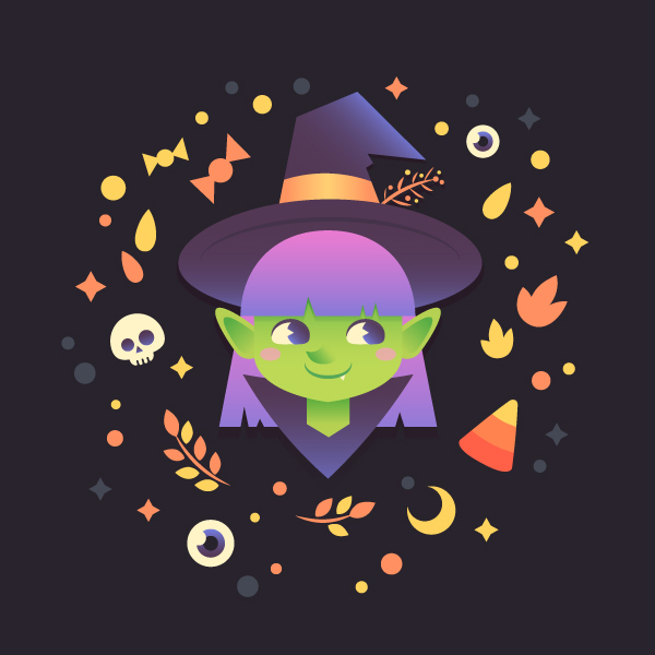 Draw a Cute Halloween Witch in Adobe Illustrator