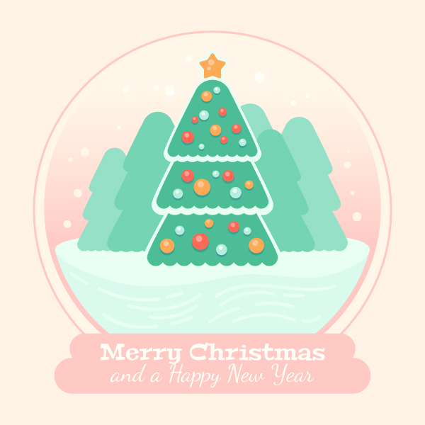 Create a Christmas Tree in a Glass Ball in Adobe Illustrator