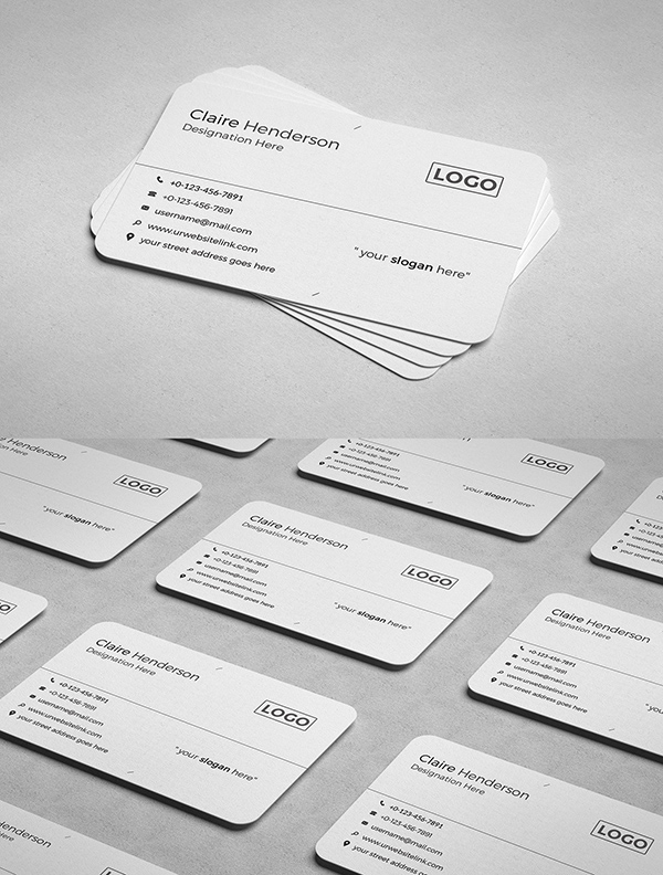 Awesome Business card PSD Template