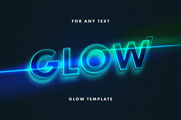 Free Glowing Text Effect