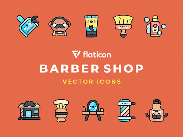 Barber Shop Vector Icons