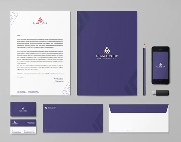Diamond Group Branding Identity & Stationery Template