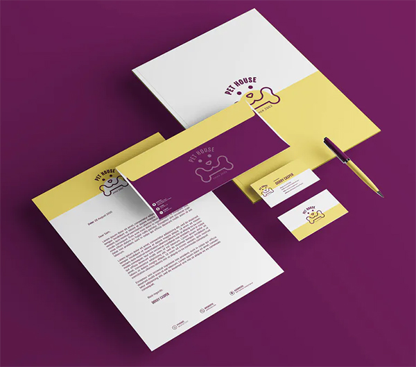 Pet House Branding Identity & Stationery Template