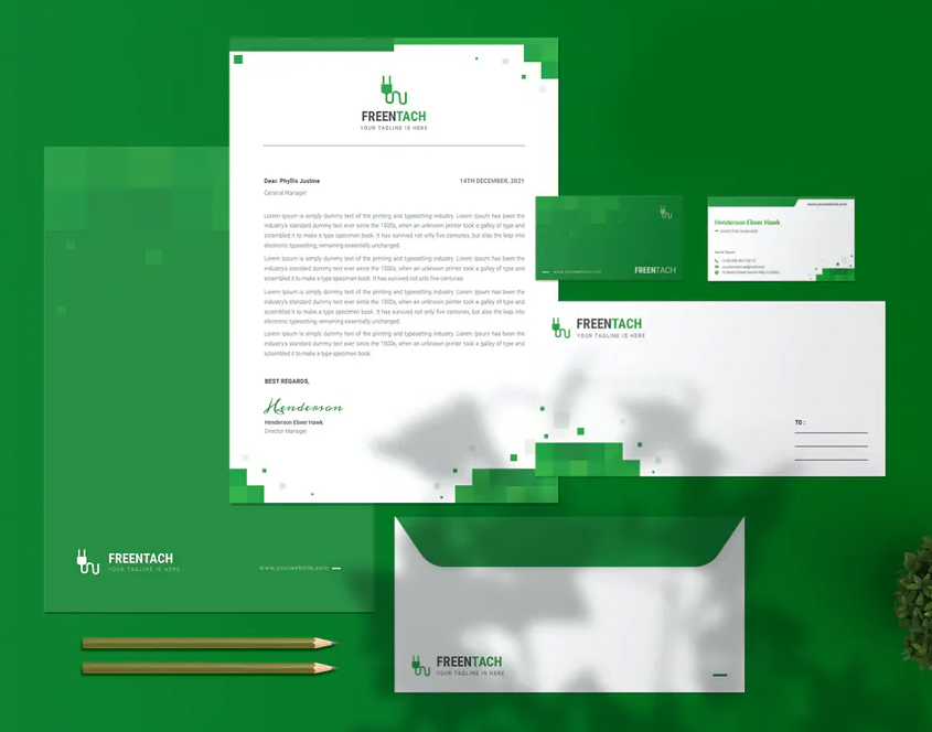 Freentach Company - Stationary Template