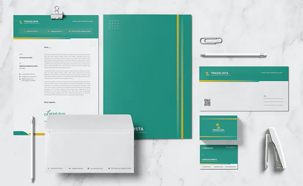 Travelista Stationary Template