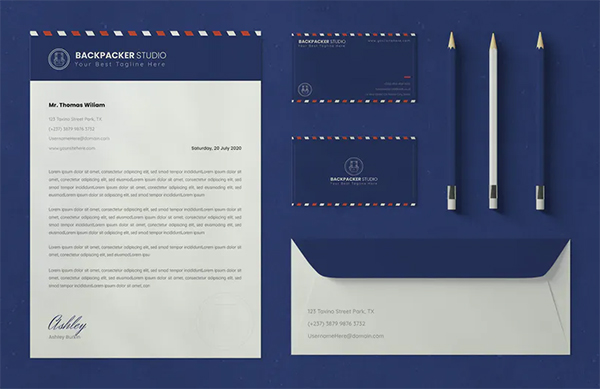 Backpacker Stationary Template