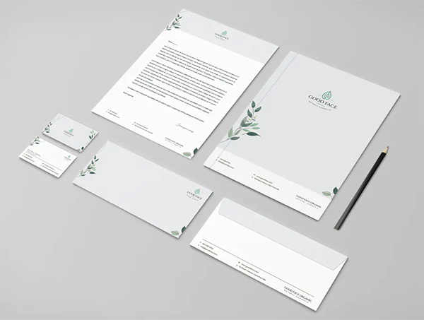 Good Face Branding Identity & Stationery Template