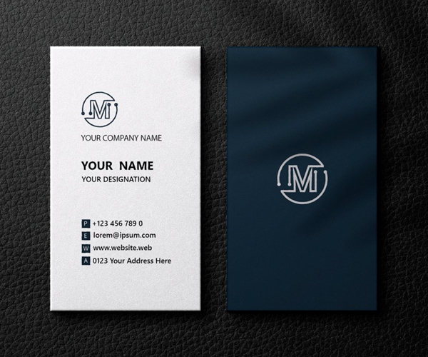 Royal Blue Business Card