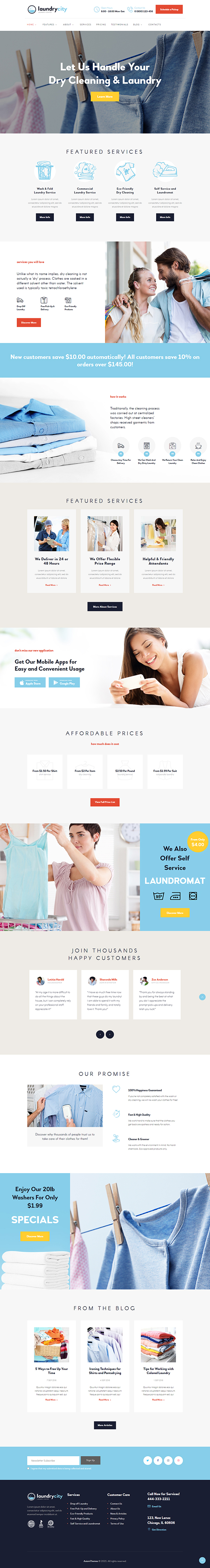 Laundry & Cleaning WordPress Theme