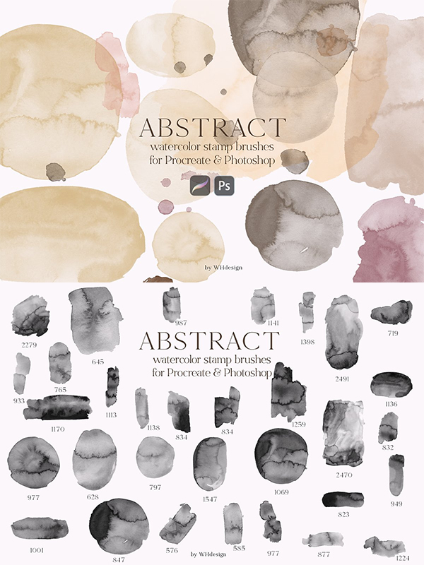Abstract Procreate & PSD Brushes