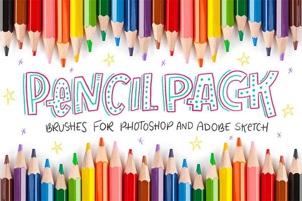 Pencil Pack Photoshop Brushes