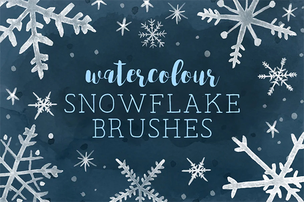 Watercolor Snowflakes Brushes