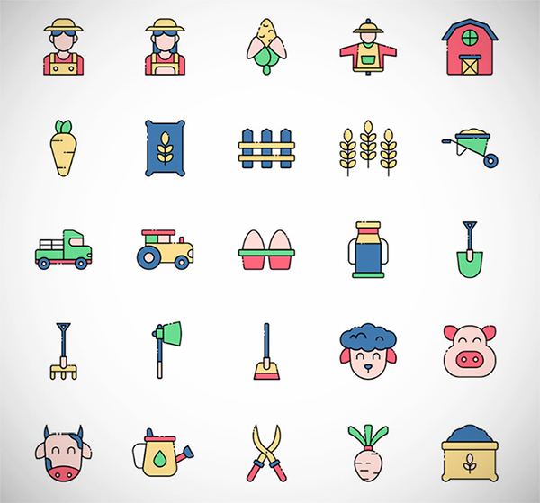 Free Creative Farmer Vector Icons (2021)