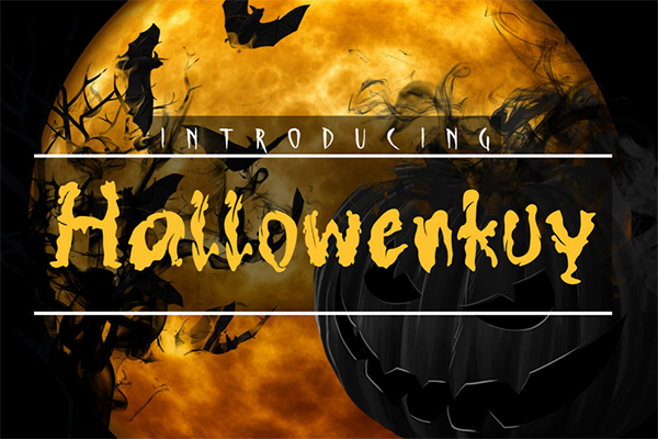 Hallowenkuy Display Free Font