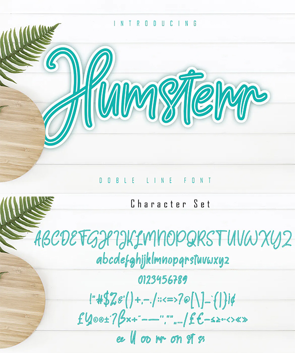 Humsterr - Double Line Font