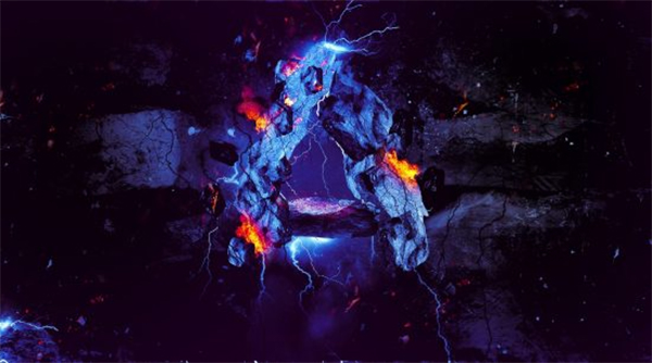 Create Rock Text Surrounded by Fire and Lightning in Photoshop