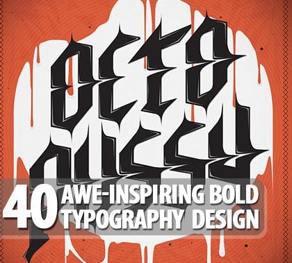Bold Typography Design