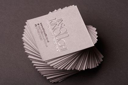 Square Business Cards Design
