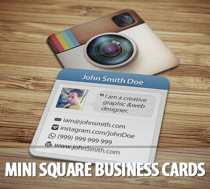 Mini Square Business Cards
